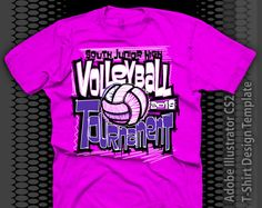 volleyball tournament shirts | Pink Volleyball Shirt Design - Volleyball Pink T-Shirt Design Template ...
