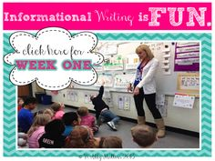 How to make informational writing FUN!