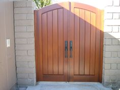 Custom Wood Gate by Garden Passages  www.gardenpassages.com Wood Gates, Double Gate, Custom Wood, Project Ideas, Simple, Outdoor Decor, Garden, Home Decor, Doors