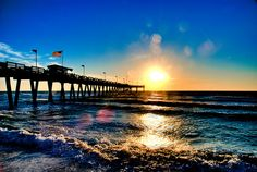 I miss Venice Beach. Venice Beach Pier Sunset HDR by * Photos by Chris M * / © All rights . Florida Vacation, Florida Travel, Florida Beaches, Vacation Spots, Sandy Beaches, Travel Europe, Vacation Ideas, Travel Usa, Venice Florida