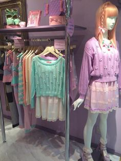 You look very nice today! Pastel Fashion, Kawaii Fashion, Lolita Fashion, Colorful Fashion, Cute Fashion, Kawaii Dress, Kawaii Clothes, Kawaii Shirts, Japanese Street Fashion