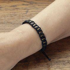 Black string bracelet for women, Hematite bracelet, Braided bracelet, Satin cord bracelet, Beaded bracelet, Gold Hematite beads bracelet Jewelry Dish, Jewelry Shop, Jewelry Making, Braided Bracelets, Cord Bracelets, Hematite Bracelet, Gift Bags, Satin, Beads