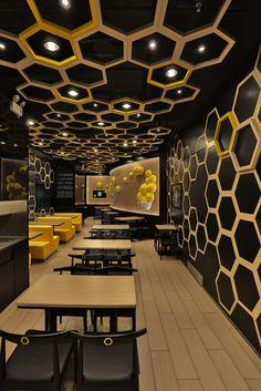 playful honeycomb restaurant rice home