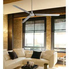 Most ceiling fans are complete hideous monstrosities of aesthetic vomit. This one is an exception.