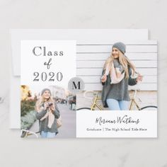 Shop Simple Gray Monogram Photo Graduation Announcement created by PollyFunDesign. Personalize it with photos & text or purchase as is! Celebration High School, Graduation Celebration, Graduation Party Invitations, Boyfriend Graduation Gift, Graduation Gifts For Daughter, Graduation Ideas, Graduation Quotes, Graduation Caps, Grad Cap