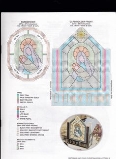 Madonna & Child Pg. 5 Plastic Canvas Christmas, Plastic Canvas Crafts, Plastic Canvas Patterns, Nursery Patterns, Halloween Beads, Mary And Jesus, Madonna And Child, Baby Yellow, Tissue Box Covers