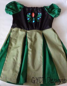 Little Anna Peasant Dress Pattern - adapting a peasant girl pattern Princess Anna Dress, Princess Dress Patterns, Frozen Dress Pattern, Princess Dress Tutorials, Little Girl Dresses, Girls Dresses, Peasant Dress Patterns, Peasant Dresses, Anna Coronation Dress