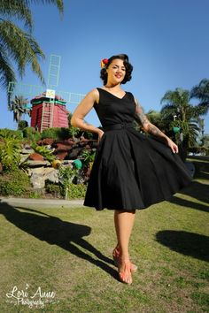 db9a217fb6 Pinup Couture Havana Nights Dress in Black