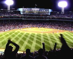 A night time shot of the best park in Baseball!