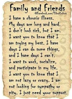 Chronic InvisblePainful Illness.