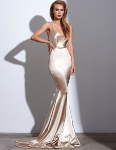Sexy Prom Dress, Champagne Prom Dresses, Spaghetti Straps Evening Dress, Silk Like Satin Long Evening Dresses Formal Dress - Satin Dresses, Elegant Dresses, Sexy Dresses, Pretty Dresses, Formal Dresses, Satin Bridesmaid Dresses, Wedding Dresses, Long Dresses, Wedding Attire