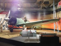 Left side view of a restored Mitsubishi A6M2 'Zero' long-range fighter aircraft on display at the pacific Aviation Museum on Ford Island, Pearl harbor.  The 'Zero' was one of the types of aircraft that the Japanese Imperial Navy used in their sneak attack on Pearl Harbor on 7 December 1941.