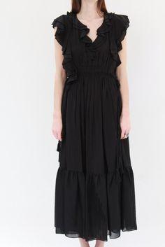 Apiece Apart Rafaela Maxi Dress Black