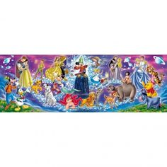 Clementoni - Panoramic 1,000 Pieces Jigsaw Puzzle - The Disney Family