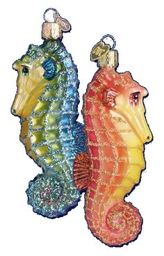 Sea Horse Assorted Glass Ornament
