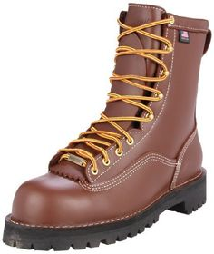 Danner Men's Super Rain Forest 11565 Steel Toe Work Boot Danner. $354.95. Electrical Hazard protection. Vibram 132 Montagna outsole angled for superior traction. leather. Made in the USA. Additional leather layer in toe for abrasion. Recraftable. Rubber sole