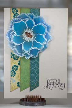 "Scraps of Paper could make the ""ribbon"" for this all-occasion card!"