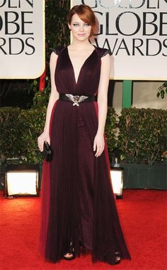 Emma Stone    WHAT:  Lanvin and Cartier clutch  WHERE:  69th Annual Golden Globe Awards