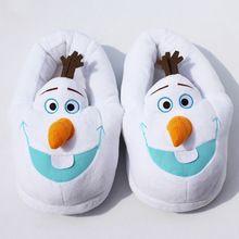 11 '' 28 cm hiver Slipper Olaf en peluche pantoufles dans les chaussures de porte taille gratuit livraison gratuite(China (Mainland))