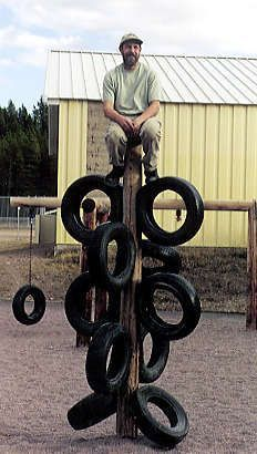 ... Using Old Tires For Playgrounds