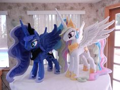 CELESTIA AND LUNA by =EquestriaPlush on deviantART. O. M. G. CAN I HAVE THESE LIKE NOW?! *steals* *hugs*
