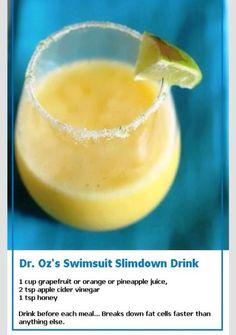 Dr. Oz Slim Down Drink