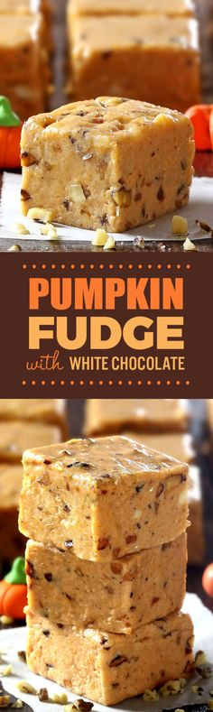 Pumpkin Pie Fudge - Cakescottage...