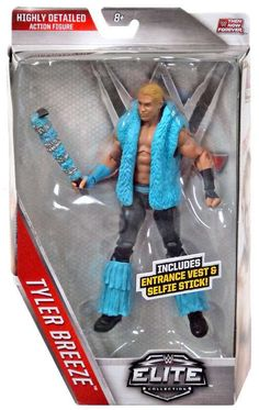 WWE Wrestling Elite Collection Then Now Forever Tyler Breeze Exclusive Action Figure [Entrance Vest & Selfie Stick!]
