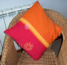 Decorative Orange  Red  and Yellow Pillow Throw by PollysPillows, $25.00