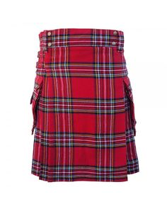 Our handmade kilts are built to last and will withstand any manly task you put them up to. The style is traditional with added functionality. #RoyalStewartTartaKilt #TartanKilt #KiltsForSale