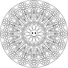 Adult Coloring Pages - Mandala - Welcome to Dover Publications Mandala Coloring Pages, Coloring Book Pages, Printable Coloring Pages, Coloring Sheets, Coloring For Kids, Free Coloring, Dover Publications, Mandala Pattern, Colorful Pictures