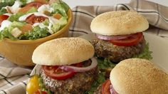 Original Ranch Cheeseburgers    Note: Can also bake in the oven at 375 for 20 minutes...press thumb in the center of each burger to make an indention...this keeps patties flat during baking...they come out of the oven awesome and juicy!