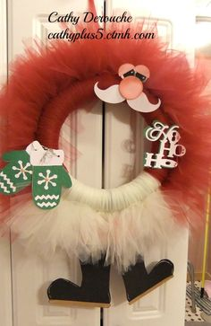 I think this is my favorite Santa Wreath