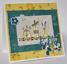 Jillibean Soup: Hello Card by Karyn Schultz featuring Bohemian Brew collection.