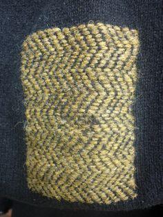 damask darn on knit fabric