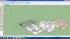 Ideation rendering of custom floor plan with multi-level progress