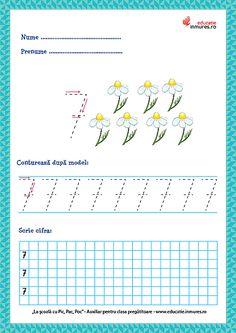 Set de fișe de lucru cu exerciții de scriere corectă a cifrelor ( 1-9) și numărul 10. se pot descărca gratuit în format PDF pentru print. Numbers Preschool, Math 2, Thing 1, Preschool Learning Activities, Dental, Crafts For Kids, Ely, David, School