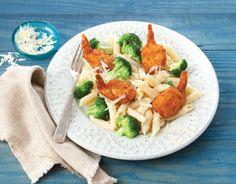 SeaPak Broccoli, Parmesan and Shrimp Pasta