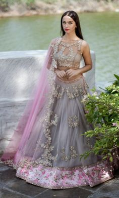 By designer Anushree Reddy. Bridelan- Personal shopper & style consultants for Indian/NRI weddings, website www.bridelan.com  #AnushreeReddy #WeddingLehenga #Bridelan #BridelanIndia.