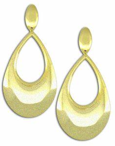 #Brinco #folheado a #ouro em forma de gota c/ acabamento fosco- Código: BS2324 - Preço 41,80 - Garantia de 1 ano pós compra. Compre em: www.imagemfolheados.com.br/?a=76729