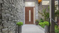 Our lightweight Aluminum Exterior Doors ensure optimum reliability and increased burglary protection even with large door formats. Door Gate Design, Door Design Interior, Exterior Design, Custom Exterior Doors, Modern Exterior, Interior Modern, Window Grill Design Modern, Window Design, Aluminium Door Design