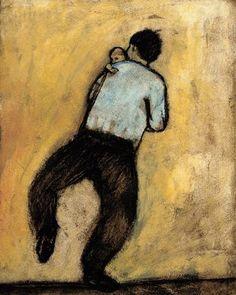 Father and Son Dancing - Brian T. Kershisnik