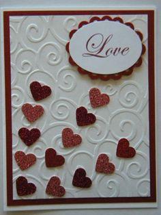 Stampin Up Card Kit Love Valentine Handmade Card Stampin' Up Embossed Envelop | eBay