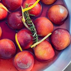 Thanks @everydayhealth for including our recipe & photo of Poached #Peaches in White Wine with Rosemary in your recent article on 5 Healthy Tips for #CookingwithWine (link in Profile)
