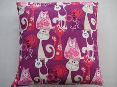 Cat Pillow Fabric | Cats Fabric Design Pillow Cover | Cat Fabric and Prints for Max | Pin ...