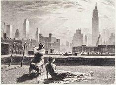 Sun Bath (1935), Martin Lewis.