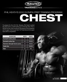 Part 2 of this 7-part workout series takes us through Phil's 1st chest workout of the week. In order to get the most out of his chest workout, the 2-time Mr. Olympia Champion took Nano Vapor pre-workout.
