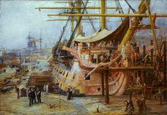 Restoring HMS Victory by William Lionel Wyllie