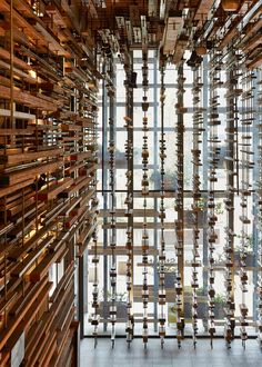 March Studio adds thousands of timber planksto staircase of Canberra's Hotel Hotel