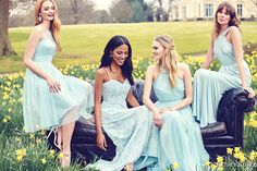 kelsey rose bridesmaids 2016 duck egg blue pastel mix match mismatched bridesmaid spring summer weddings